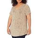 Amazon Essentials Women's Plus Size Short-Sleeve V-Neck Tunic