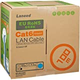 エレコム LANケーブル 100m 自作用 RoHS指令準拠 CAT6 ブルー LD-CT6/BU100/RS