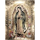 Our Lady of Guadalupe, Body Portrait,Roses - Religious Wall Art Print Poster (20x27)
