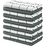 Utopia Towels Kitchen Towels (15 x 25 Inch) Cotton - Machine Washable - Extra Soft Set in Dobby Weave Dish Towels, Tea Towels