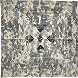 Colter Co. Reflective Survival Bandana, Orange or Camouflage for Camping, Hiking, Hunting, Backpacking | 100% Cotton, Made in