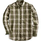 Goodthreads Men's Standard-Fit Long-Sleeve Plaid Slub Shirt