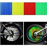 OUMERS 反射クリップ 自転車ホイール用 反射板48本/セット スポークリフレクター バイク反射スティック 3Mスコッチライト反射材