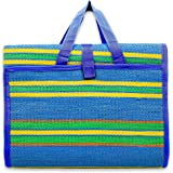 """Camco 42814 Blue/Green 72"""" x 108"""" Striped Handy Mat with Strap"""