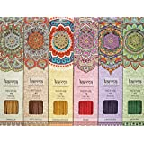 Premium Incense Sticks 6 Set Gift Pack with a Sparkly Holder In Each Box 240 Sticks by Karma Scents