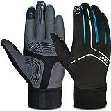 Souke Sports Cycling Bike Gloves Padded Warm Full Finger Bicycle Gloves Shock-Absorbing Anti-Slip MTB Road Biking for Men/Wom