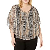 AGB Womens Fashion Popover Top Long Sleeve Blouse - Multi