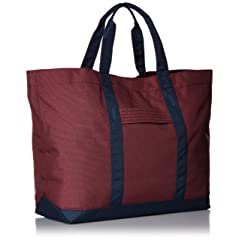 Tote Bag L T235: Burgundy / Navy
