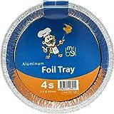 Bel 4254 Aluminium Tray, Round, Set of 4 Silver