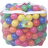 Click N' Play Pack of 200 Phthalate Free BPA Free Crush Proof Plastic Ball, Pit Balls - 6 Bright Colors in Reusable and Durab