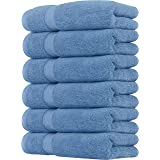 Utopia Towels Cotton Hand Towels, 6 Pack Towels, 700 GSM (Electric Blue)