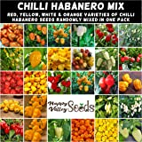 Mix Habanero Chilli 10 Seeds Super HOT Vegetable Garden Plant Chili Pepper Mixed