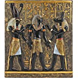 Rameses I Between Horus and Anubis Wall Frieze in Faux Ebony and Gold [Kitchen]