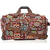 "Rockland 22"" Rolling Duffle Bag, Owl (Multi) - PRD322"