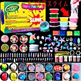 HSETIY Unicorn DIY Slime kit Supplies-6 Cloud Slime6 Clear Slime3 Jelly Cube5 Unicorn55 Glitter4 Magic Clay with DIY Slime To