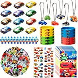 122Pcs Race Cars Party Supplies Kit, Lightning McQueen Party Favors All-in-one Package Party Supplies Including Cartoon Tatto