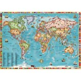 World Map for Kids (27x38 Laminated)