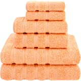 Premium, Luxury Hotel & Spa Quality, 6 Piece Kitchen and Bathroom Turkish Towel Set, Cotton for Maximum Softness and Absorben