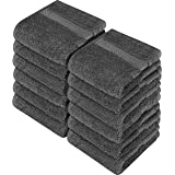 Utopia Towels Premium 700 GSM Washcloths Towel Set (12 Pack, Grey, 12 x 12 Inches) Multi-Purpose Extra Soft Fingertip Towels,