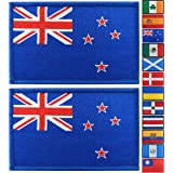 JBCD 2 Pack New Zealand Flag Patch New Zealander Flags Tactical Patch Pride Flag Patch for Clothes Hat Patch Team Military Pa