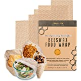 Beeswax Food Wrap Set of 5- Reusable Wax Food Wrap - Natural Beewax Wrapping - Safe For Your Food, Odorless bee wax wraps - Z