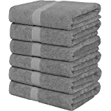 Utopia Towels Medium Cotton Towels, Gray, 24 x 48 Inches Towels for Pool, Spa, and Gym Lightweight and Highly Absorbent Quick