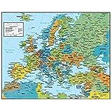 Swiftmaps ヨーロッパ壁掛け地図 地政学版 SM EUR SM L