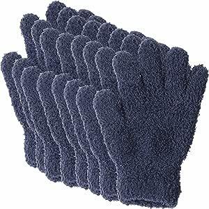 汚れをかき取る ふわふわ マイクロファイバー お掃除 手袋 (男・女・子供・家族で使える のびのび仕様) 8pセット