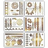 Terra Tattoos Temporary Henna Metallic Tattoos - Over 75 Mandala Gold Tattoos