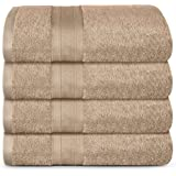 TRIDENT SOFT & PLUSH TOWELS LONG LASTING DURABLE for Daily Use Super Soft Fast Dry & Highly Absorbent Set of 4 Premium Bath f