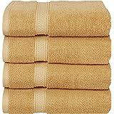 Utopia Towels Premium Combed Cotton Bath Towels, 4 Pack, Beige