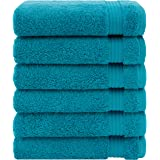 Luxury & Hotel Quality 100% Turkish Genuine Cotton 6-Piece Hand Towel Set, Extra Soft & Absorbent for Face & Hands by United