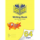 Spirax 161 335MM x 240MM Writing Book with 18MM Dotted Thirds (64 Pages)
