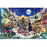 ジグソーパズル 幻想風景【光る】 ローテンブルクの聖夜 1000ピース(50×75cm)