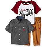 U.S. POLO ASSN. Baby Boy's T-Shirt, Sport Shirt and Pant Set Pants