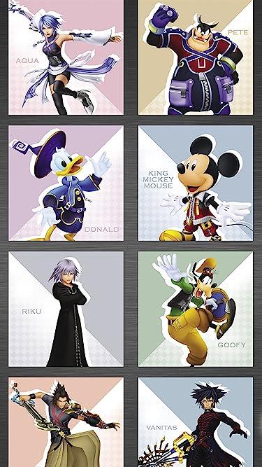 ディズニー  iPhone/Androidスマホ壁紙(1080×1920)-1 - 『キングダムハーツ』アクア,ピート,ドナルド,ミッキー,リク,グーフィー,テラ,ヴァニタス
