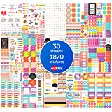 Avery Planner Stickers, 1820 Stickers, Unique Designs & Materials, Organize Planner Journals & Calendars (6780)