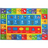 """Kev & Cooper Playtime Collection ABC, Numbers and Shapes Educational Area Rug - 5'0"""" x 6'6"""""""