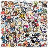 100PCS Studio Ghibli Stickers Hayao Miyazaki Anime Stickers Waterproof Vinyl Stickers Skateboard Luggage Stickers for Kids Te