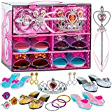 ToyVelt Princess Dress Up & Play Shoe and Jewelry Boutique (Includes 4 Pairs of Shoes + Multiple Fashion Accessories) - This