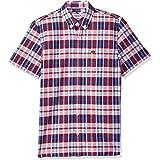 Lacoste Men's Short Sleeve Oxford Check Button Down Collar Reg Fit Woven Shirt, CH7261