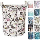 (Paris) - Merdes 19.7'' Waterproof Foldable Laundry Hamper, Dirty Clothes Laundry Basket, Linen Bin Storage Organiser for Toy