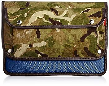 John Chapman Camo iPad Clutch: Navy