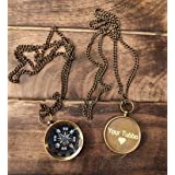 PORTHO Your Tommy Your Tubbo Locket Compass Necklace Pendent Set Antique