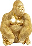 KAREデコ置物モンキーゴリラサイドメディ、ゴールド、38、5 x 30 x 28 cm