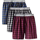 Fruit of the Loom Men's Exposed Waistband Woven Boxer - Colors May Vary