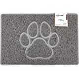 Nicoman PAW Embossed Shape Door Mat-(Use Outdoor ONLY), Spaghetti Doormat, Grey, Medium (75x44cm)