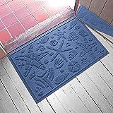 """Aqua Shield Beachcomber Doormat, Navy, 2"""" x 3"""""""