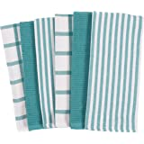 KAF Home Mixed Flat & Terry Kitchen Towels | Set of 6 18 x 28 Inches | 4 Flat Weave Towels for Cooking and Drying Dishes and