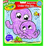 CRAYOLA 81 1350 My First™ Color & Sticker Book Assortment, Learn to Colour Animals, 12 Months, 1 Year, 2 Years, Colouring Boo